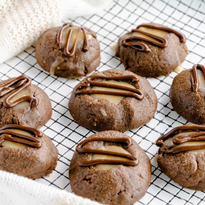 Peanut Butter Chocolate Thumbprint Cookies