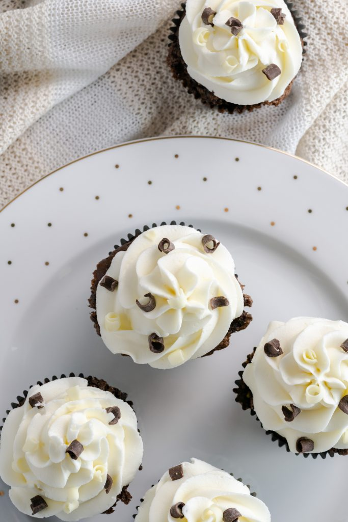 These chocolate cupcakes with vanilla buttercream frosting recipe is a go-to for birthday parties!  These cupcakes are easy to bake and easy to frost!
