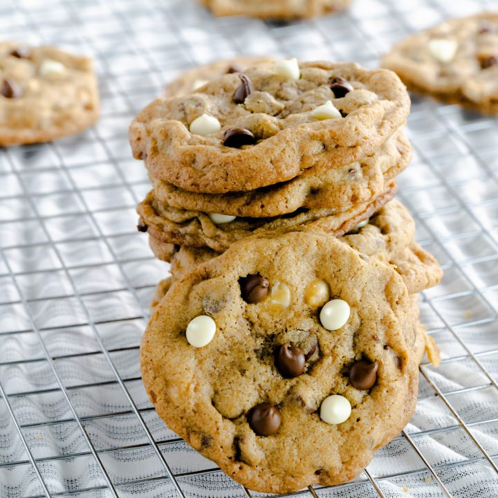 White Chocolate Chip Mocha Cookies