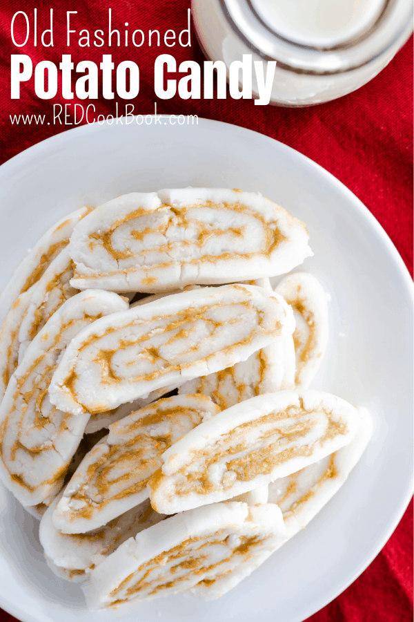 Old fashioned potato candy also is known as Depression candy is popular during the Holidays and is a 3- ingredient no-bake dessert. #christmascandy #potatocandy #3ingredient #christmastreats #dessert #christmasdessert #holiday #oldfashioned