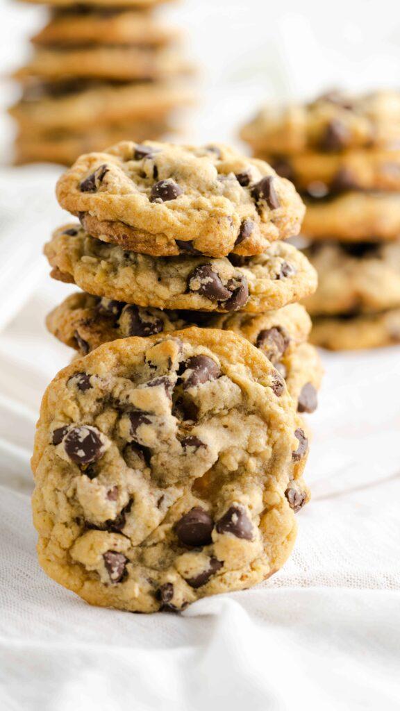 stacked  Chocolate Chip Cookies DoubleTree cookies copycat