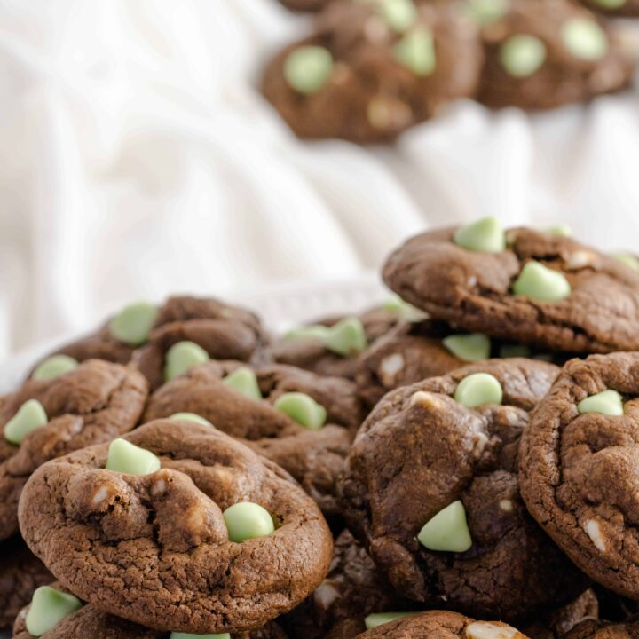 White Chocolate Mint Chip Cookies