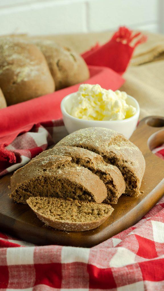 Sliced honey whole wheat bread