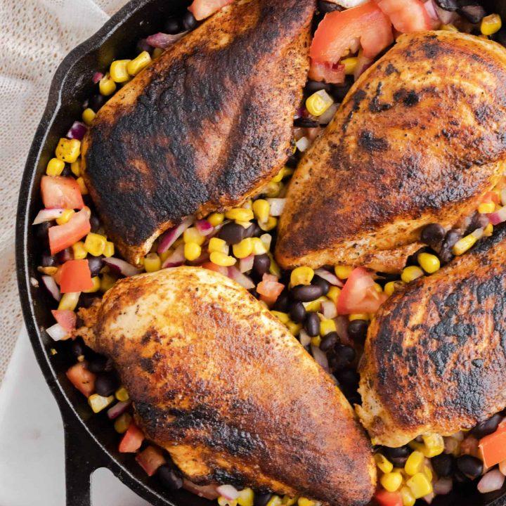 Blackened Chicken & Bean Salsa