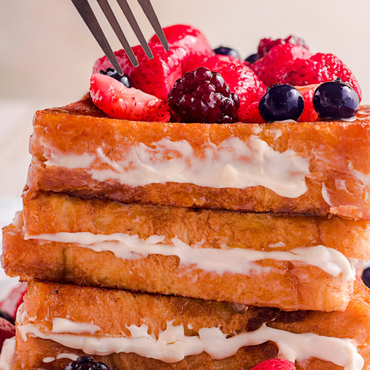 fork in french toast
